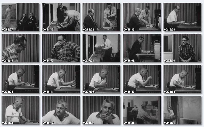 Milgramov eksperiment, vise fotografija muskaraca